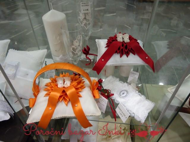 Blazinice za prstane - Poročni bazar Inki