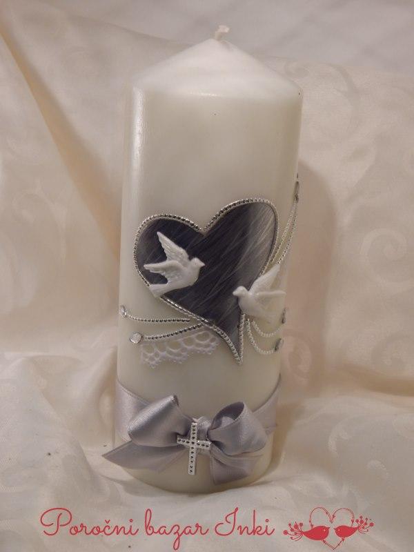 Poročna sveča - Poročni bazar INKI
